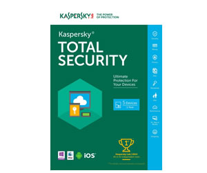 ANTIVIRUS KASPERSKY TOTAL SECURITY  3 + 1PCs